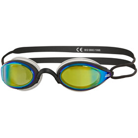 Zoggs Podium Titanium Googles Black/Black/Mirror